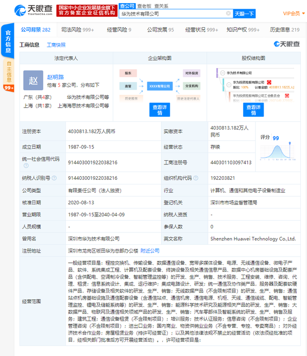 Huawei  applies a new trademark related to its Suzhou AI base