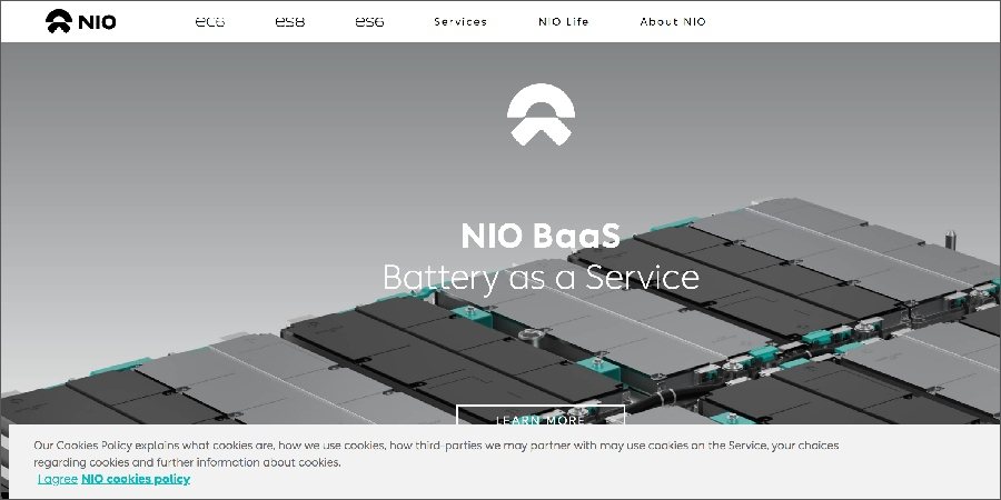 NIO launches battery rental service, RMB 980 per month